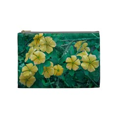 Yellow Flowers At Nature Cosmetic Bag (medium)  by dflcprints