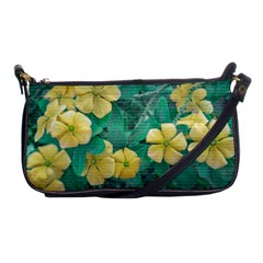 Yellow Flowers At Nature Shoulder Clutch Bags by dflcprints