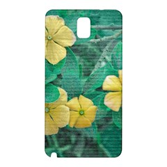 Yellow Flowers At Nature Samsung Galaxy Note 3 N9005 Hardshell Back Case by dflcprints