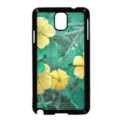 Yellow Flowers At Nature Samsung Galaxy Note 3 Neo Hardshell Case (black) by dflcprints