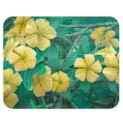 Yellow Flowers At Nature Double Sided Flano Blanket (medium)  by dflcprints