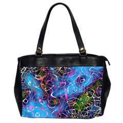 Background Chaos Mess Colorful Office Handbags (2 Sides)  by Nexatart