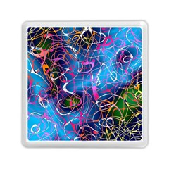 Background Chaos Mess Colorful Memory Card Reader (square)  by Nexatart