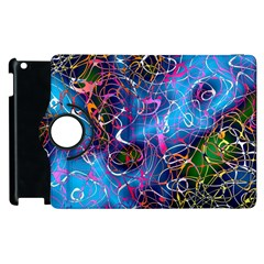 Background Chaos Mess Colorful Apple Ipad 2 Flip 360 Case by Nexatart