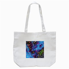 Background Chaos Mess Colorful Tote Bag (white)