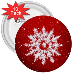 Background Christmas Star 3  Buttons (10 Pack)  by Nexatart