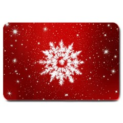Background Christmas Star Large Doormat  by Nexatart