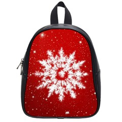 Background Christmas Star School Bag (small) by Nexatart