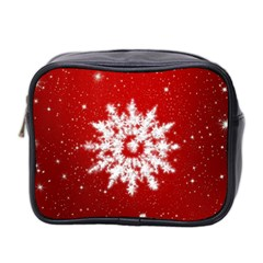 Background Christmas Star Mini Toiletries Bag 2 Side by Nexatart