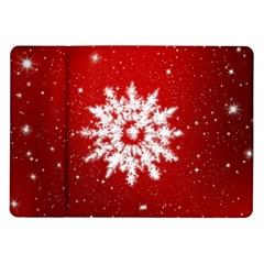 Background Christmas Star Samsung Galaxy Tab 10 1  P7500 Flip Case by Nexatart