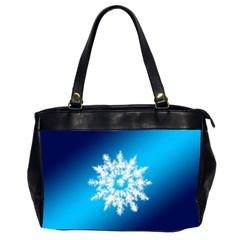 Background Christmas Star Office Handbags (2 Sides)  by Nexatart
