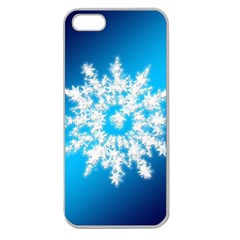 Background Christmas Star Apple Seamless Iphone 5 Case (clear) by Nexatart