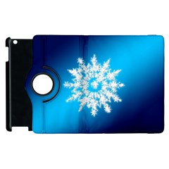 Background Christmas Star Apple Ipad 2 Flip 360 Case by Nexatart