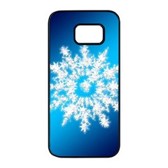 Background Christmas Star Samsung Galaxy S7 Edge Black Seamless Case by Nexatart
