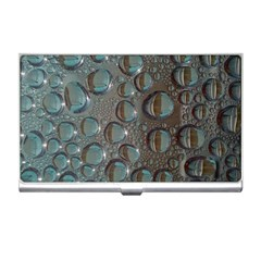 Drop Of Water Condensation Fractal Business Card Holders by Nexatart