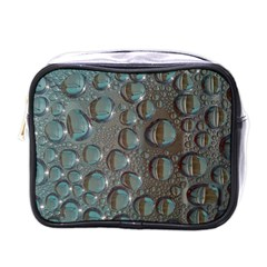 Drop Of Water Condensation Fractal Mini Toiletries Bags by Nexatart