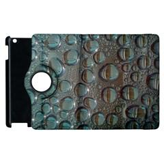 Drop Of Water Condensation Fractal Apple Ipad 2 Flip 360 Case by Nexatart