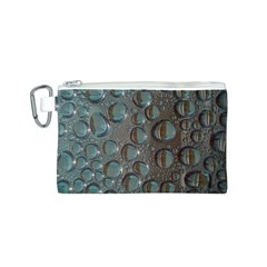 Drop Of Water Condensation Fractal Canvas Cosmetic Bag (s) by Nexatart