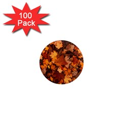 Fall Foliage Autumn Leaves October 1  Mini Magnets (100 Pack)  by Nexatart