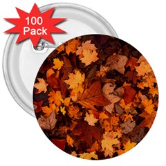 Fall Foliage Autumn Leaves October 3  Buttons (100 Pack)  by Nexatart