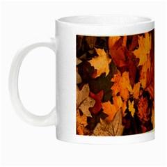 Fall Foliage Autumn Leaves October Night Luminous Mugs by Nexatart