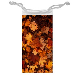 Fall Foliage Autumn Leaves October Jewelry Bag by Nexatart