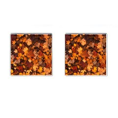 Fall Foliage Autumn Leaves October Cufflinks (square) by Nexatart