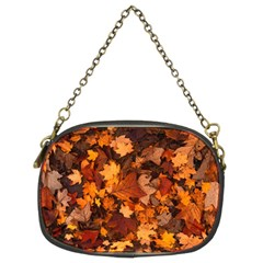 Fall Foliage Autumn Leaves October Chain Purses (two Sides)  by Nexatart