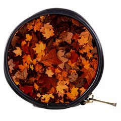 Fall Foliage Autumn Leaves October Mini Makeup Bags by Nexatart