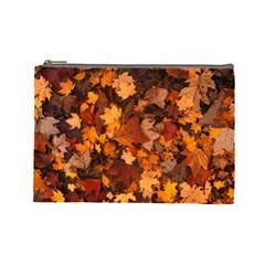 Fall Foliage Autumn Leaves October Cosmetic Bag (large)  by Nexatart