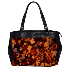 Fall Foliage Autumn Leaves October Office Handbags by Nexatart