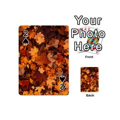 Fall Foliage Autumn Leaves October Playing Cards 54 (mini)  by Nexatart