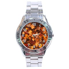 Fall Foliage Autumn Leaves October Stainless Steel Analogue Watch by Nexatart