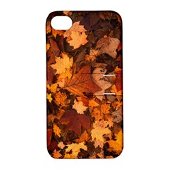 Fall Foliage Autumn Leaves October Apple Iphone 4/4s Hardshell Case With Stand by Nexatart