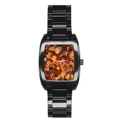 Fall Foliage Autumn Leaves October Stainless Steel Barrel Watch by Nexatart