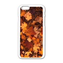 Fall Foliage Autumn Leaves October Apple Iphone 6/6s White Enamel Case by Nexatart