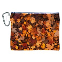 Fall Foliage Autumn Leaves October Canvas Cosmetic Bag (xxl) by Nexatart
