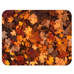 Fall Foliage Autumn Leaves October Double Sided Flano Blanket (medium)  by Nexatart