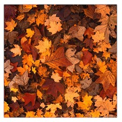 Fall Foliage Autumn Leaves October Large Satin Scarf (square) by Nexatart