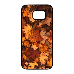 Fall Foliage Autumn Leaves October Samsung Galaxy S7 Edge Black Seamless Case by Nexatart