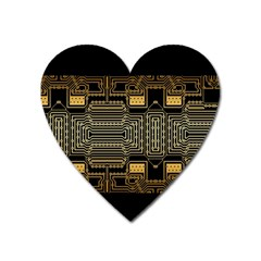 Board Digitization Circuits Heart Magnet by Nexatart