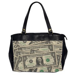 Dollar Currency Money Us Dollar Office Handbags (2 Sides)  by Nexatart