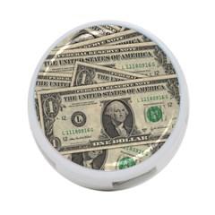 Dollar Currency Money Us Dollar 4 Port Usb Hub (two Sides)  by Nexatart