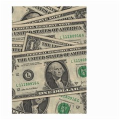 Dollar Currency Money Us Dollar Small Garden Flag (two Sides) by Nexatart