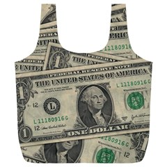 Dollar Currency Money Us Dollar Full Print Recycle Bags (l)
