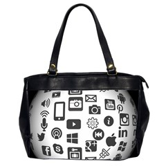 Icon Ball Logo Google Networking Office Handbags (2 Sides)  by Nexatart