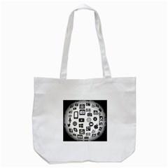 Icon Ball Logo Google Networking Tote Bag (white) by Nexatart