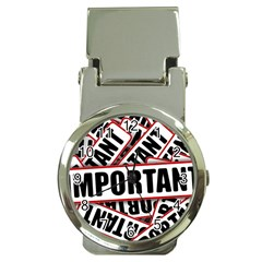 Important Stamp Imprint Money Clip Watches by Nexatart