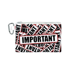 Important Stamp Imprint Canvas Cosmetic Bag (s)