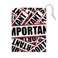 Important Stamp Imprint Drawstring Pouches (extra Large) by Nexatart